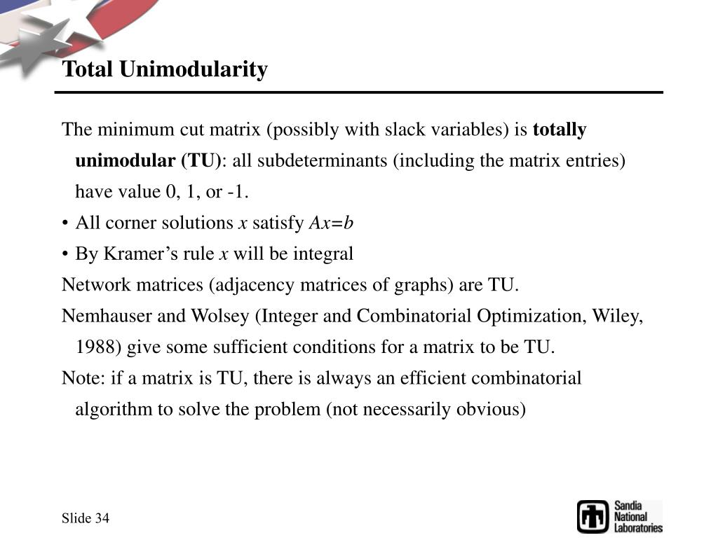 Total Unimodularity