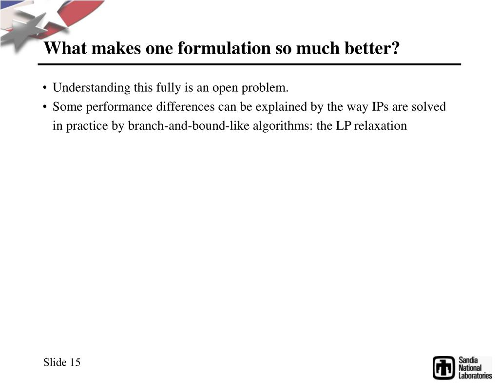 What makes one formulation so much better?