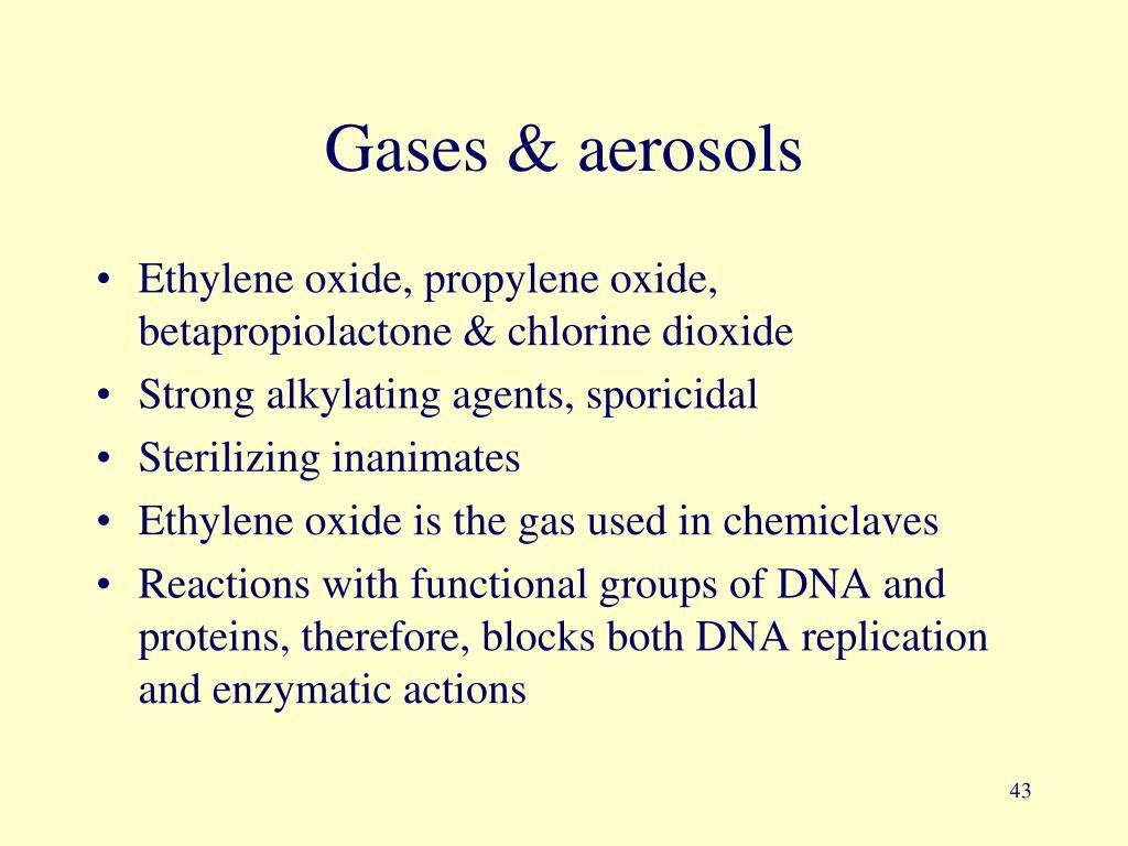 Gases & aerosols