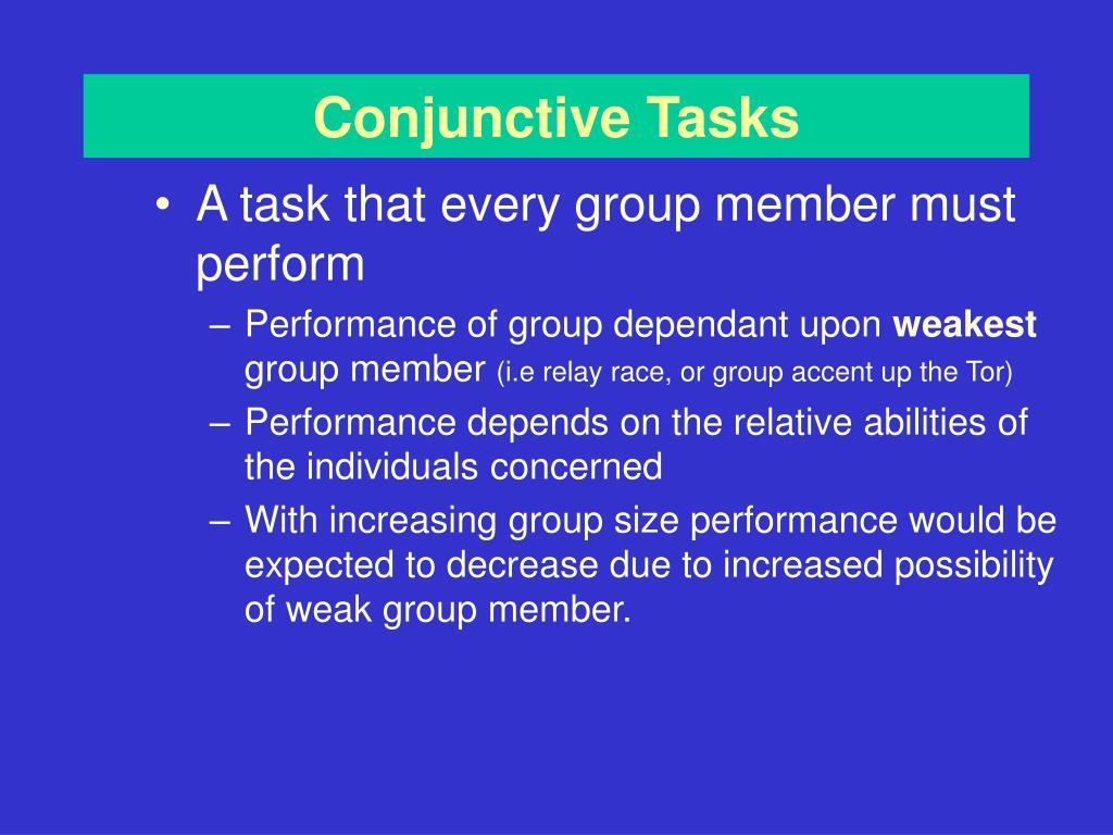 Conjunctive Task