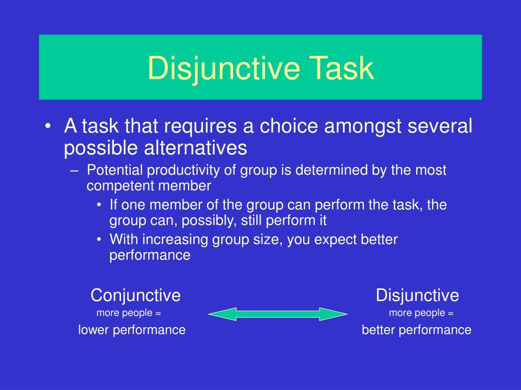 Disjunctive Task