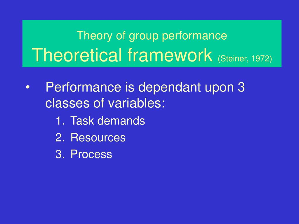 Theory of group performance