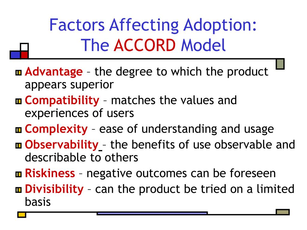 Factors Affecting Adoption: