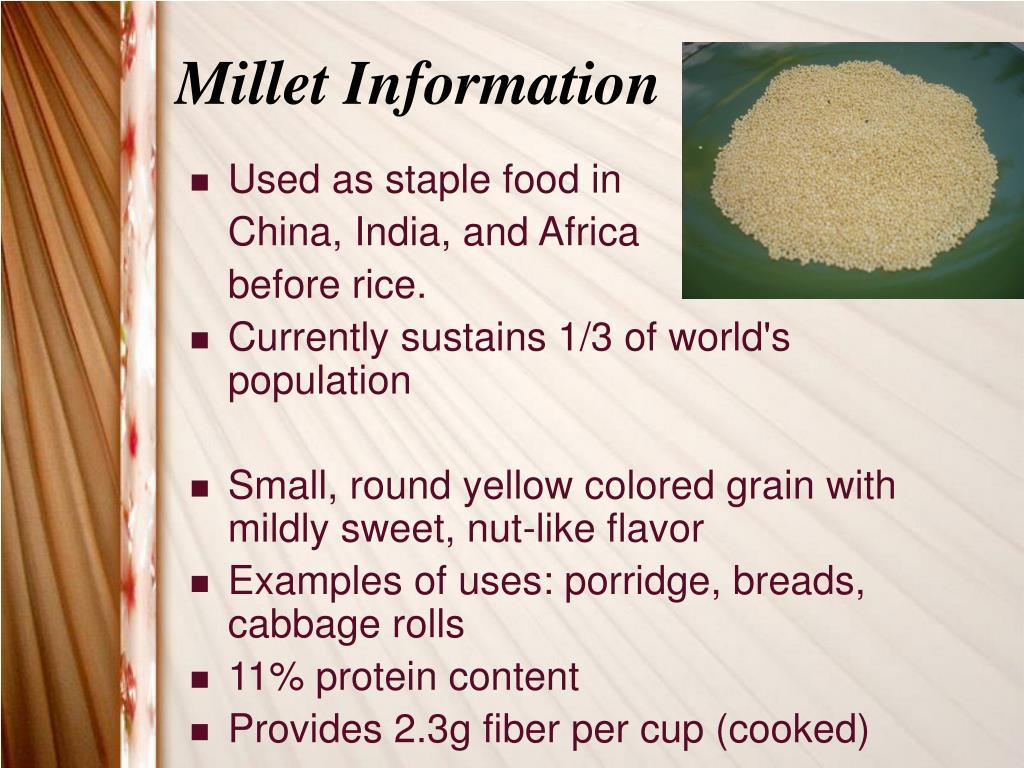 Millet Information