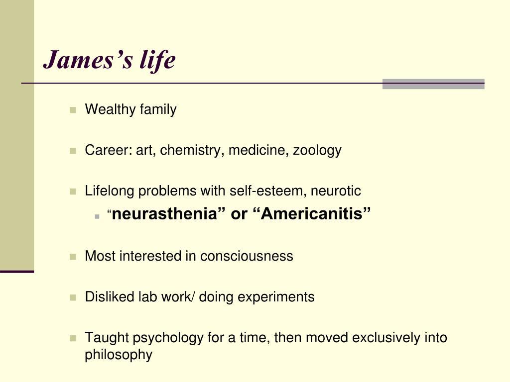 James's life