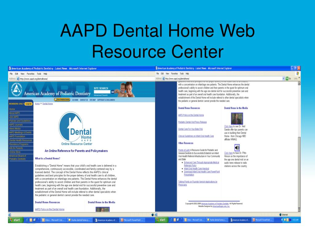 AAPD Dental Home Web Resource Center
