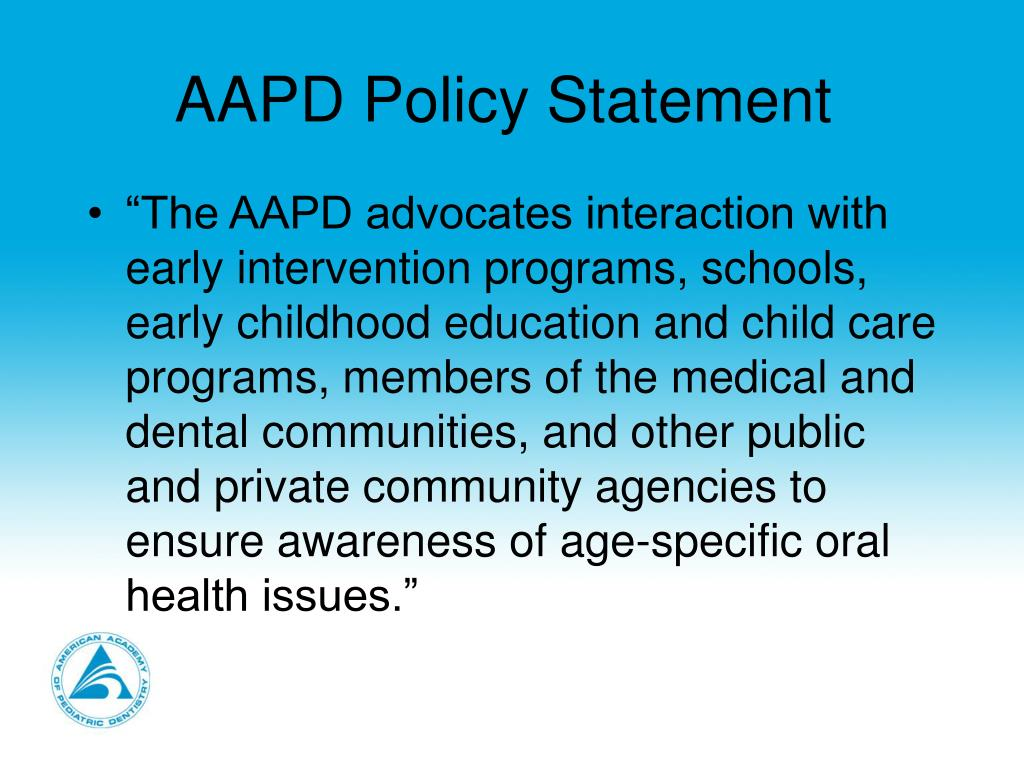 AAPD Policy Statement
