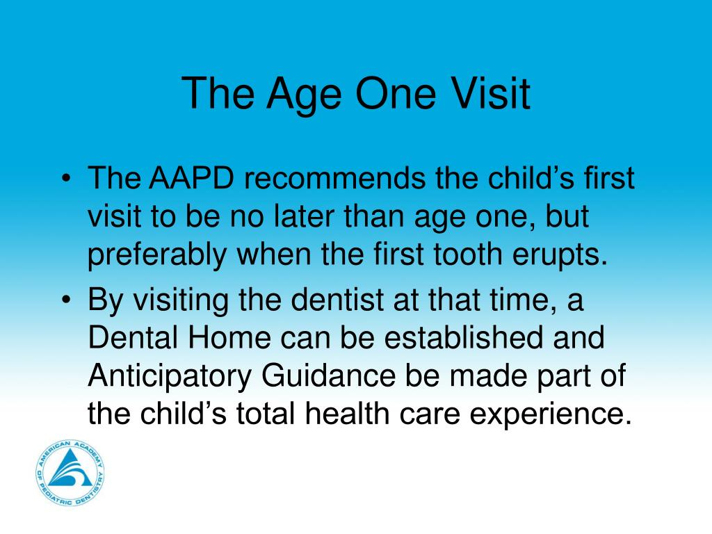 The Age One Visit