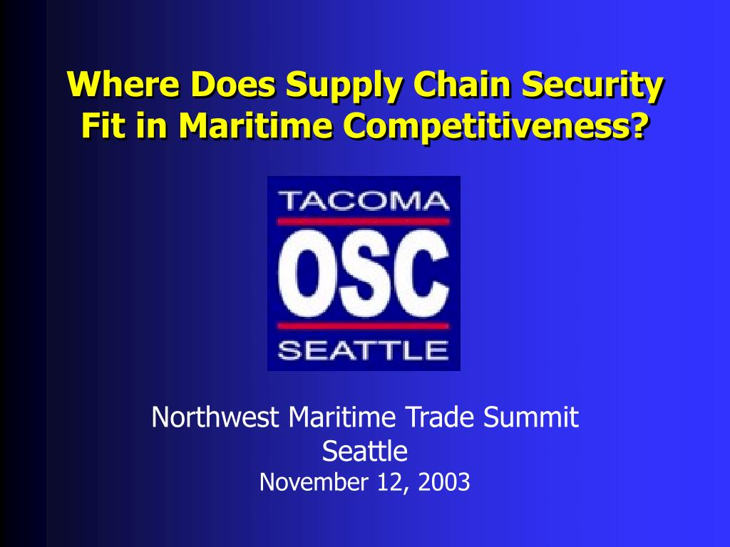 Where Does Supply Chain Security