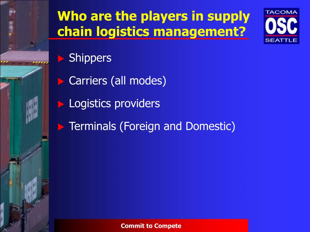 Who are the players in supply chain logistics management?