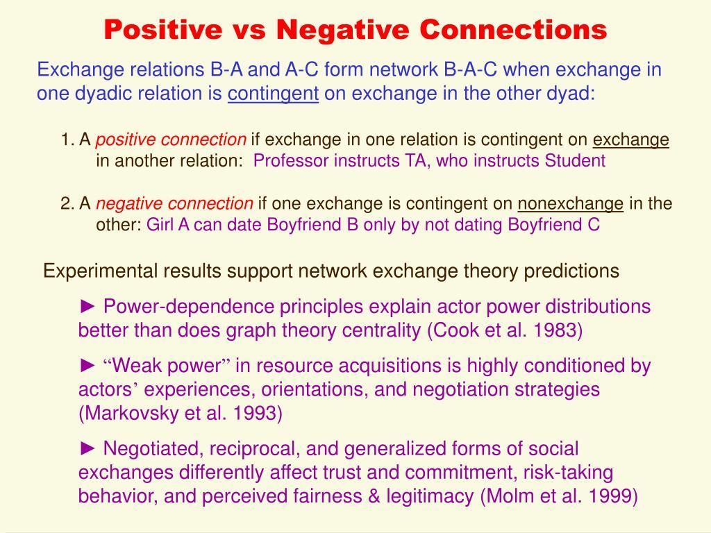 Positive vs Negative Connections