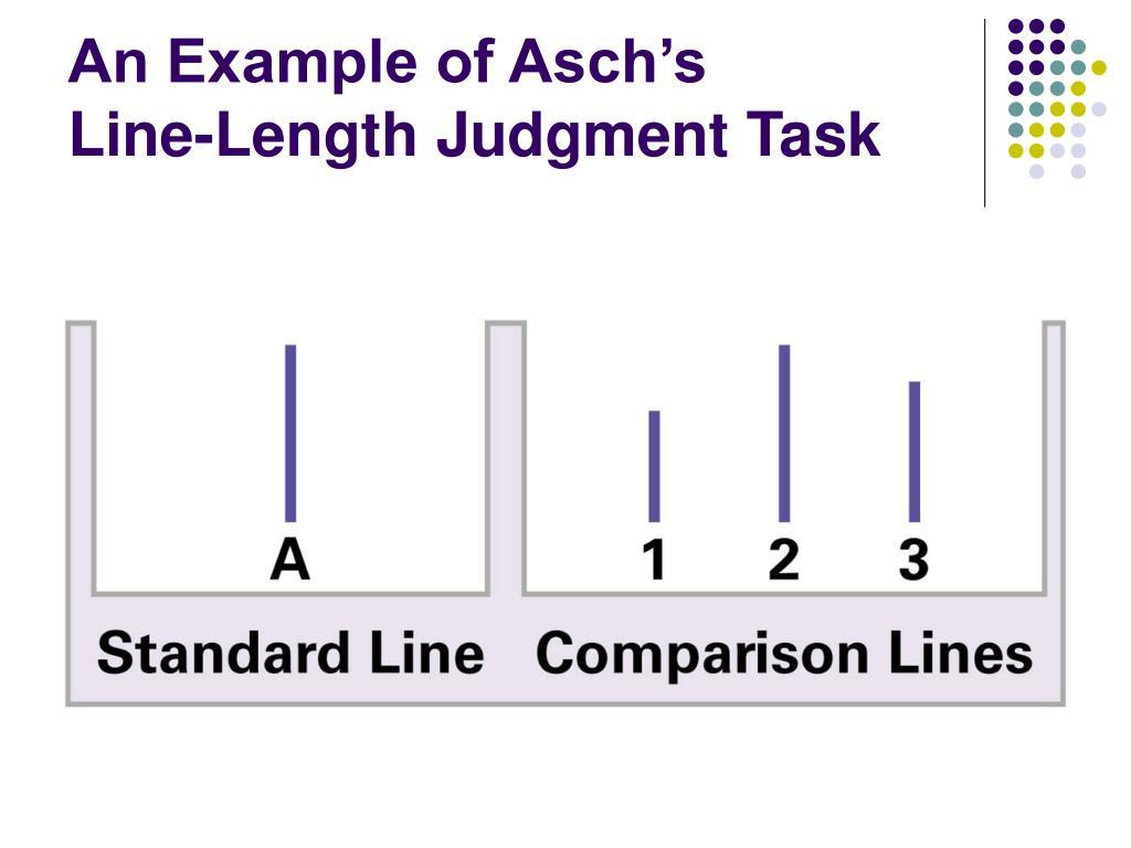 An Example of Asch's