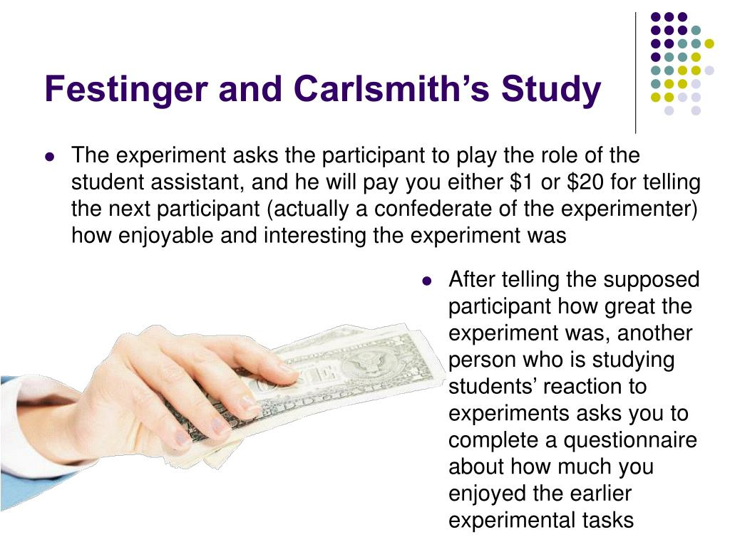 Festinger and Carlsmith's Study