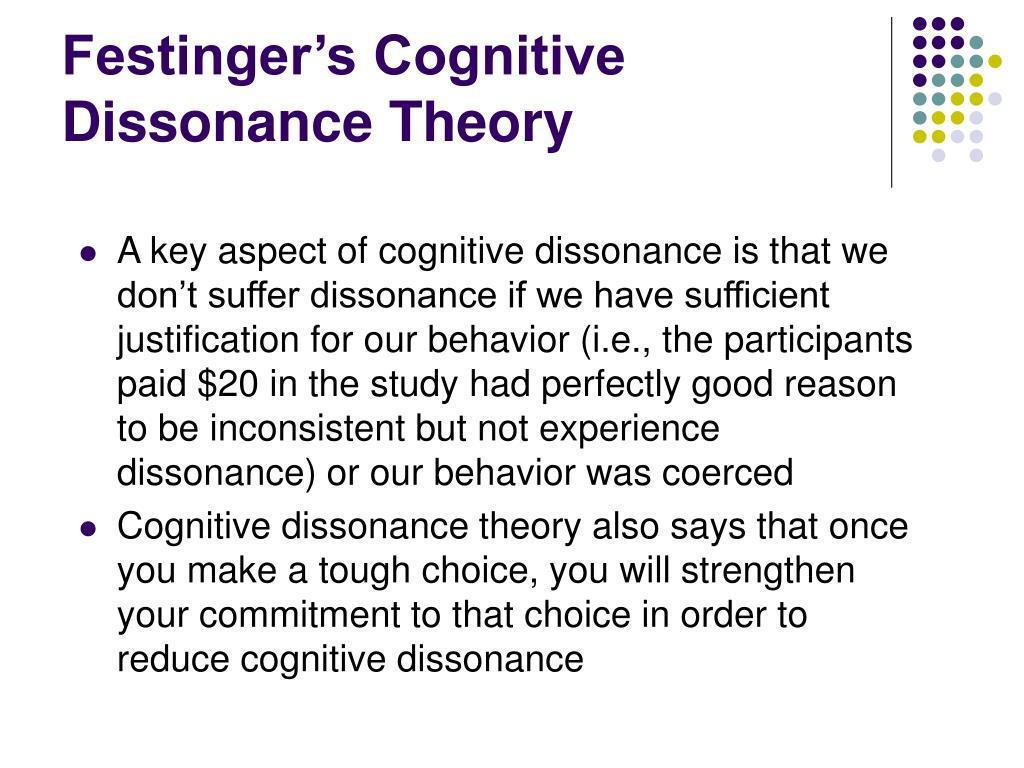 Festinger's Cognitive Dissonance Theory