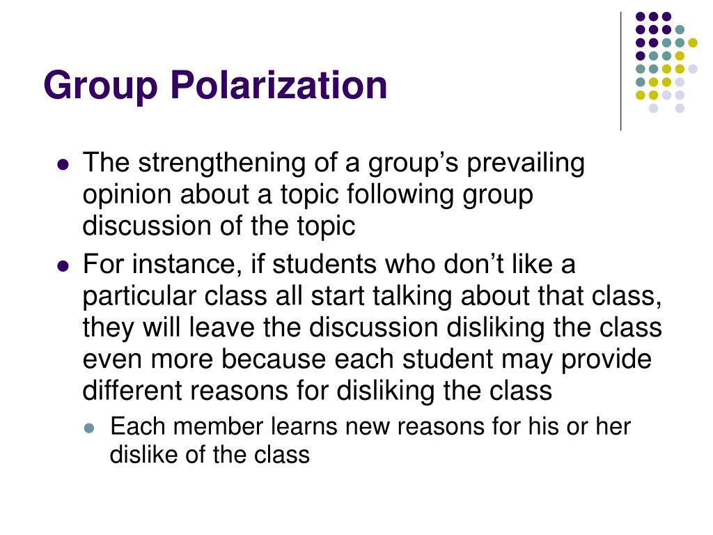 Group Polarization