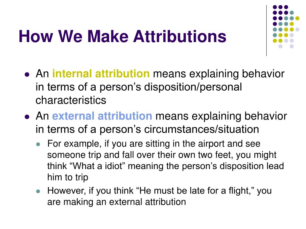 How We Make Attributions