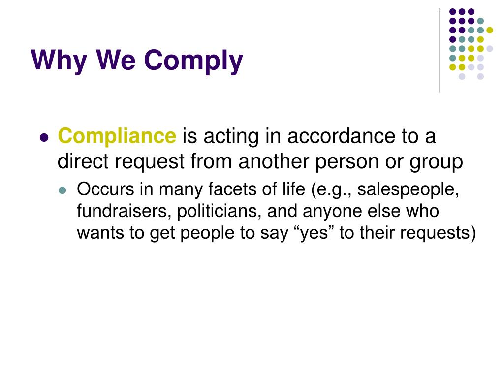 Why We Comply