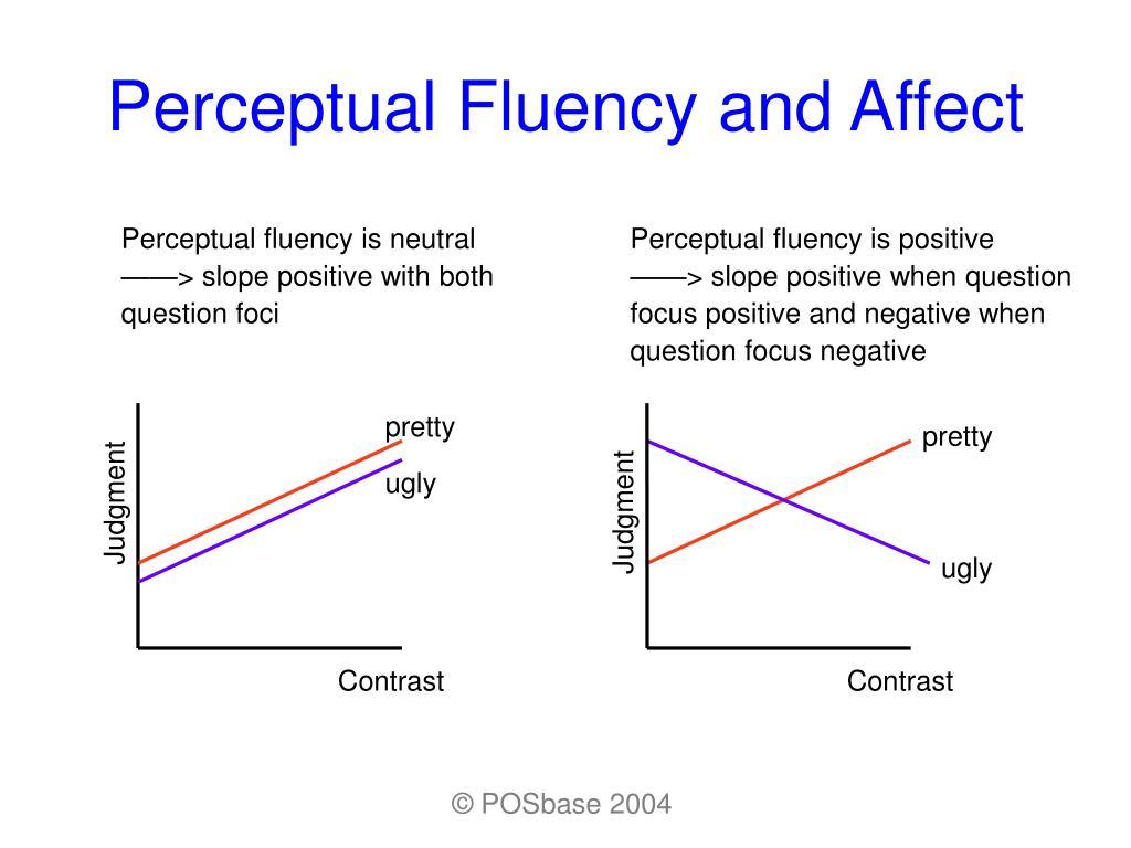 Perceptual fluency is neutral