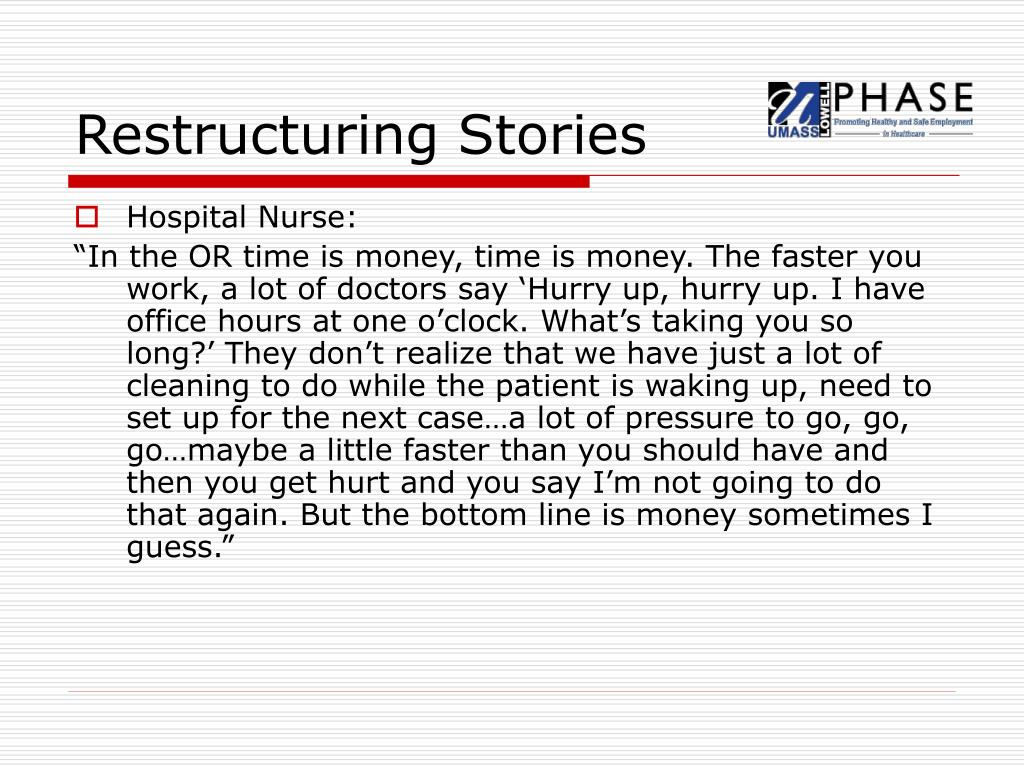 Restructuring Stories
