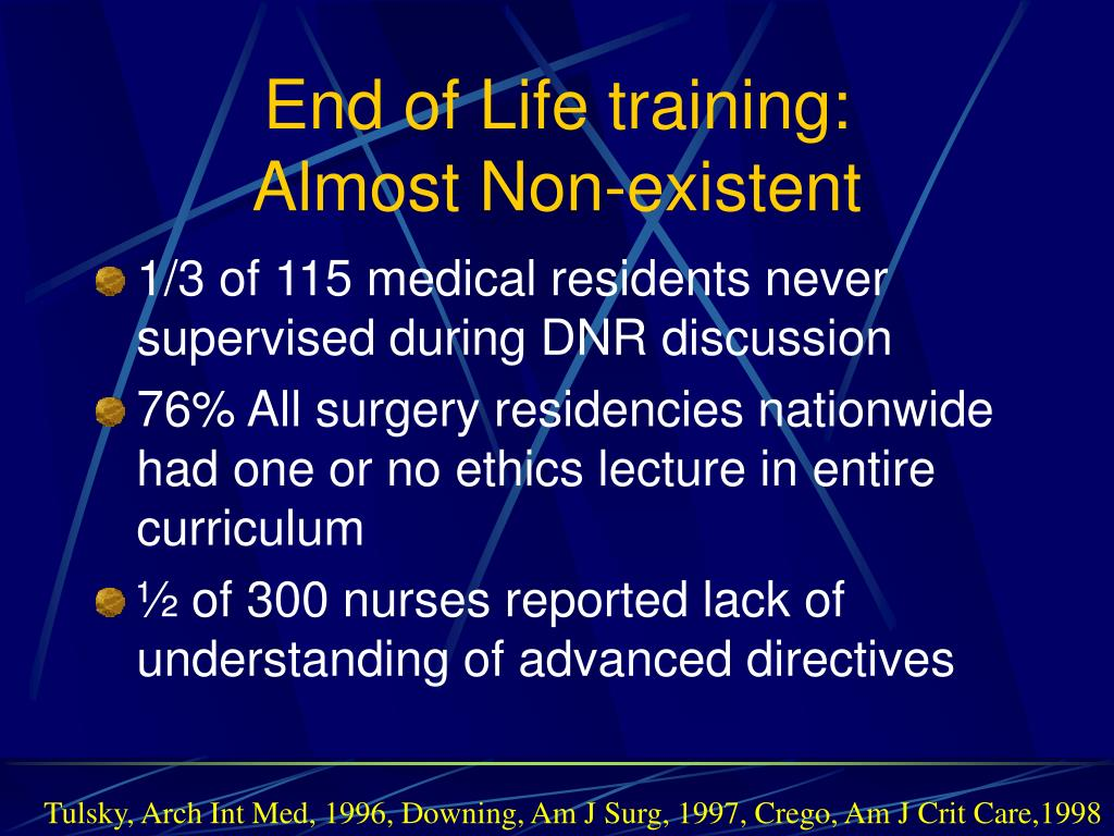 End of Life training: