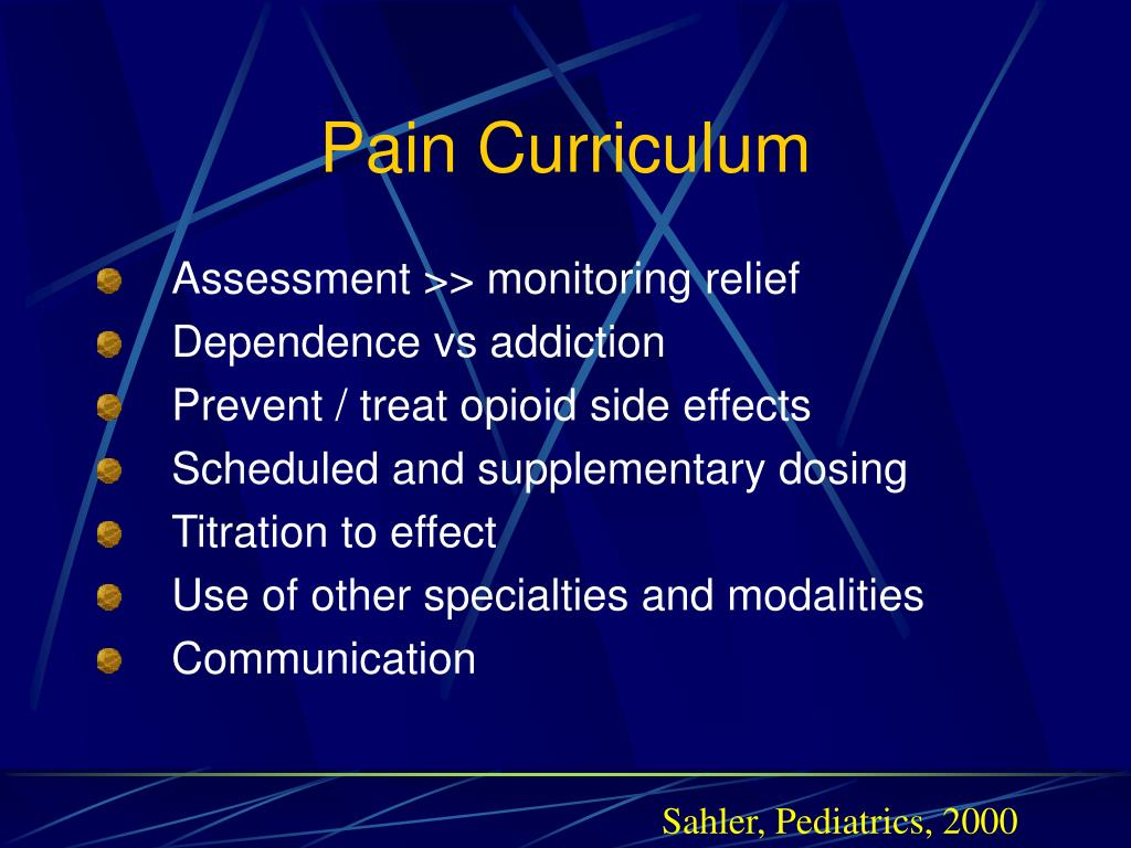 Pain Curriculum