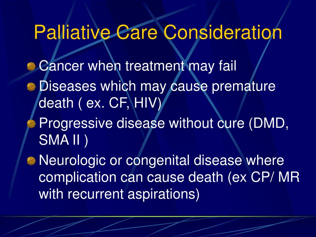 Palliative Care Consideration