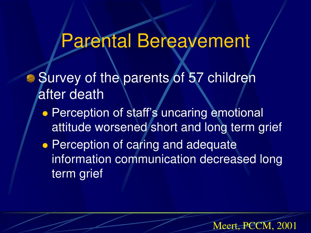 Parental Bereavement