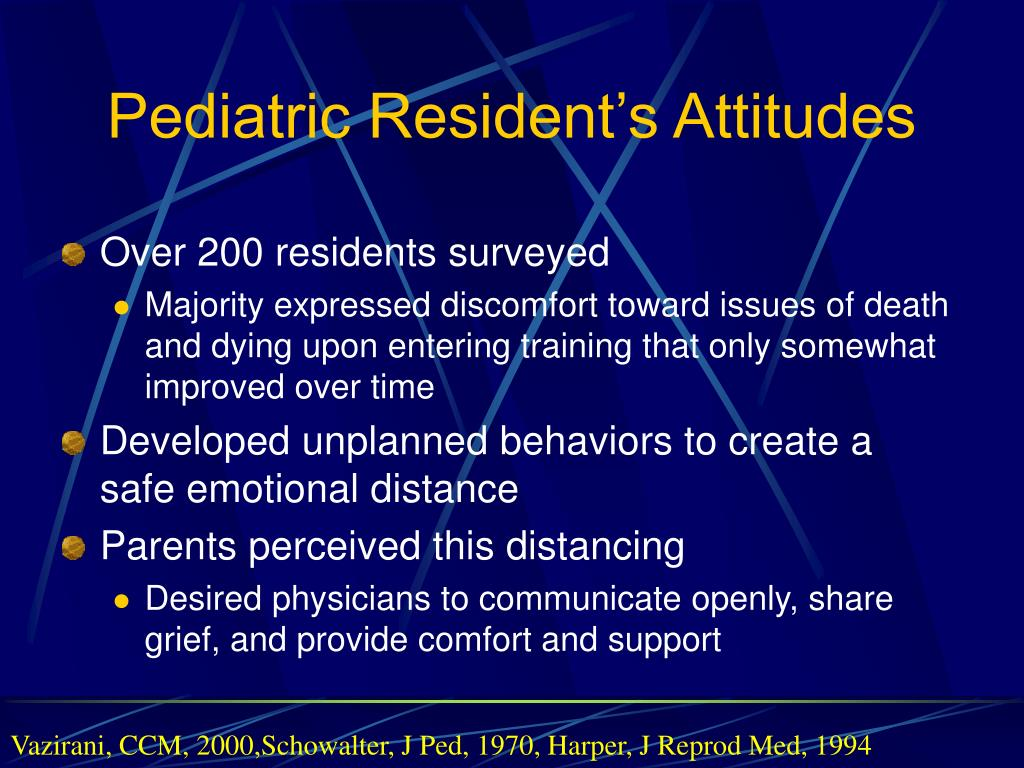 Pediatric Resident's Attitudes