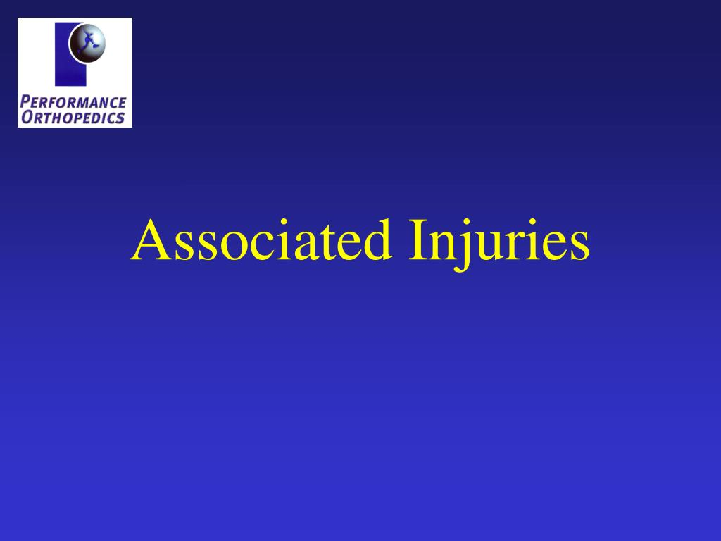 Associated Injuries