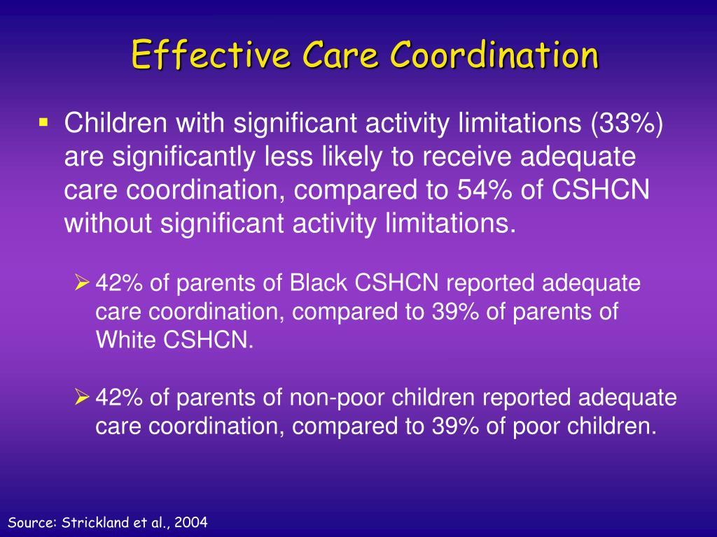 Effective Care Coordination