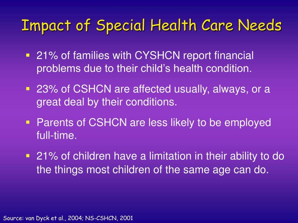 Impact of Special Health Care Needs