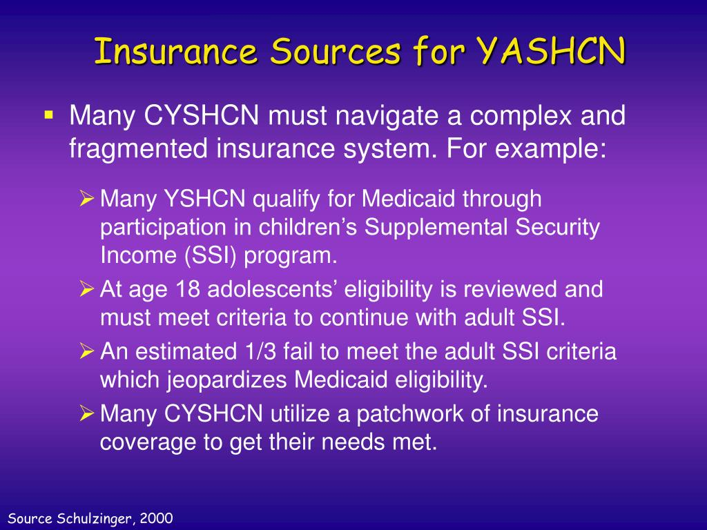 Insurance Sources for YASHCN