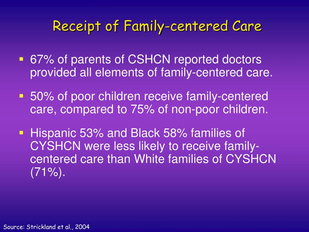Receipt of Family-centered Care
