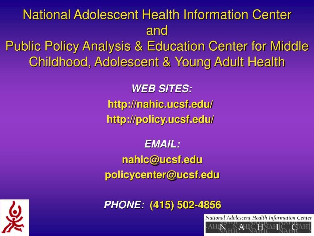 National Adolescent Health Information Center