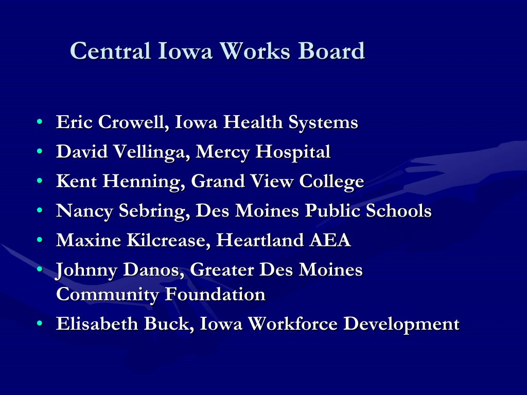 Central Iowa Works Board