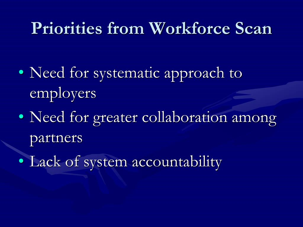 Priorities from Workforce Scan