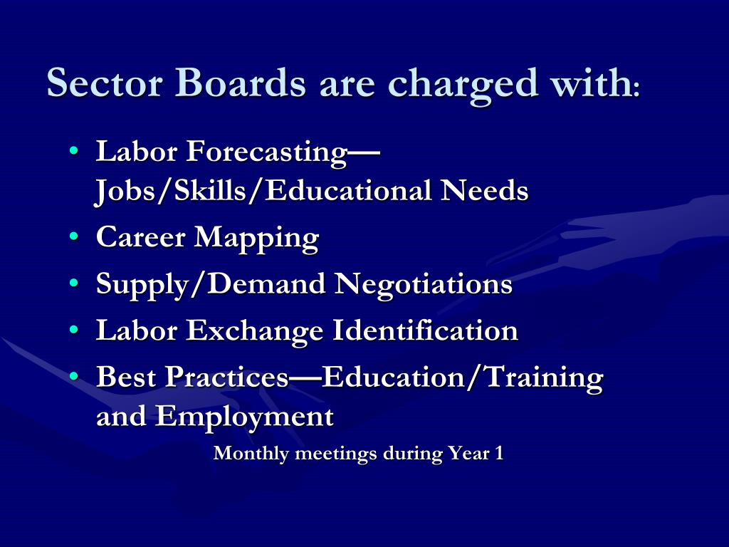 Sector Boards are charged with