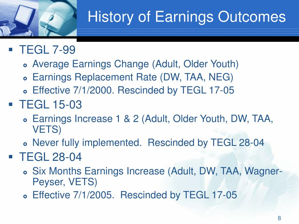 History of Earnings Outcomes