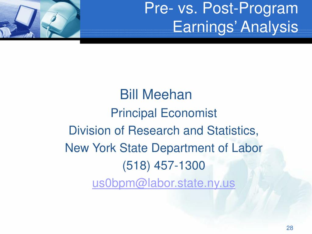 Pre- vs. Post-Program Earnings' Analysis