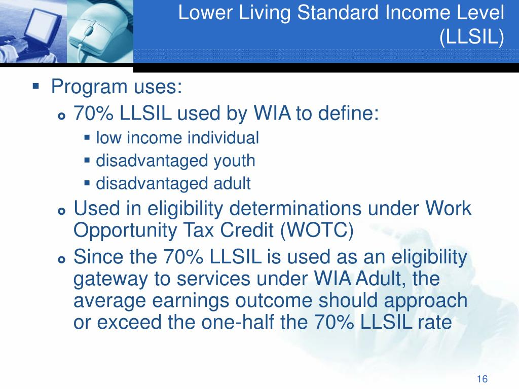 Lower Living Standard Income Level (LLSIL)