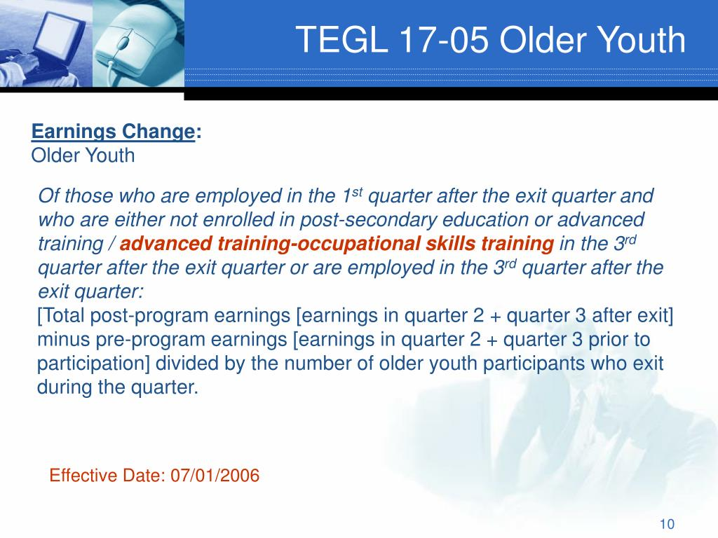 TEGL 17-05 Older Youth