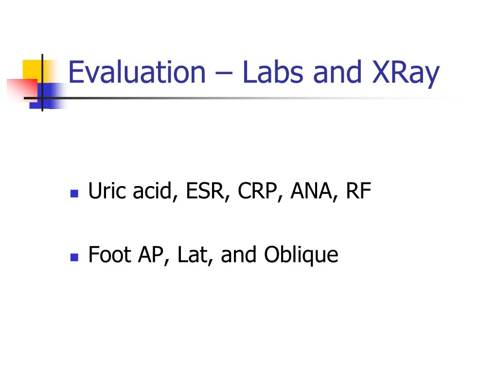 Evaluation – Labs and XRay