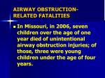 airway obstruction related fatalities