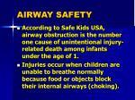 airway safety