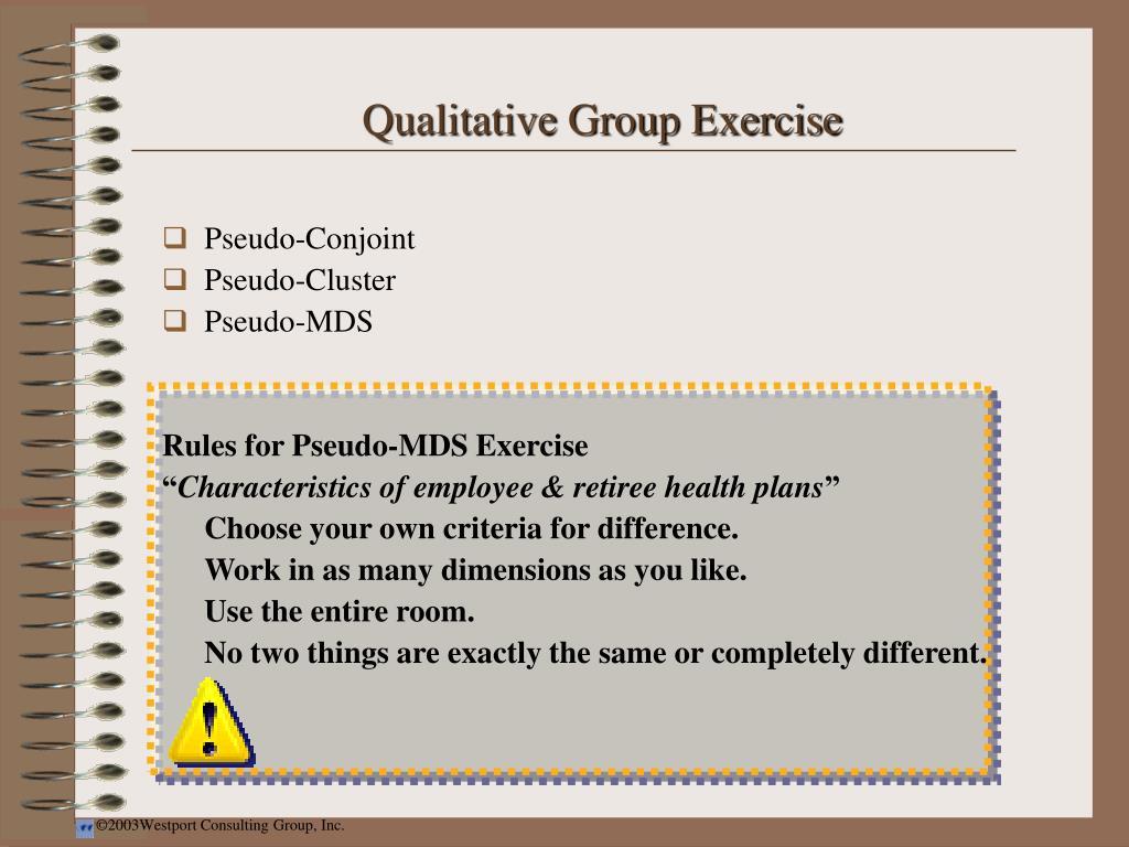 Qualitative Group Exercise