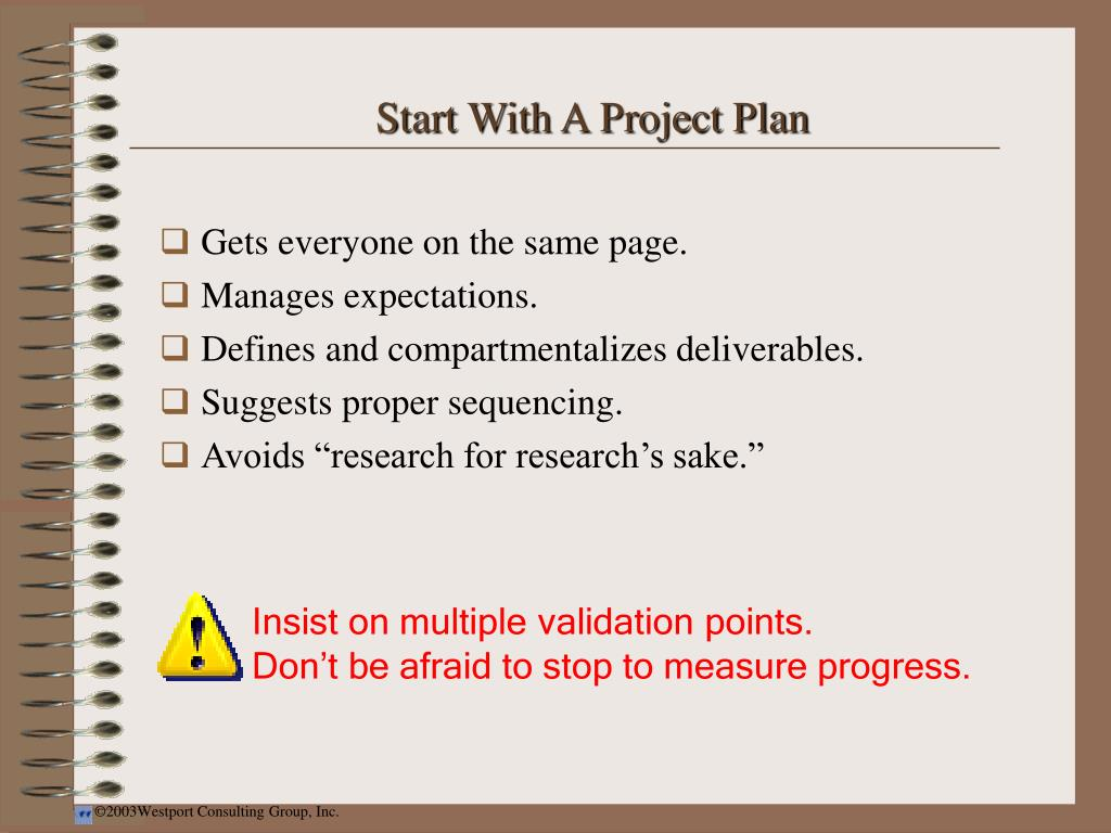 Start With A Project Plan