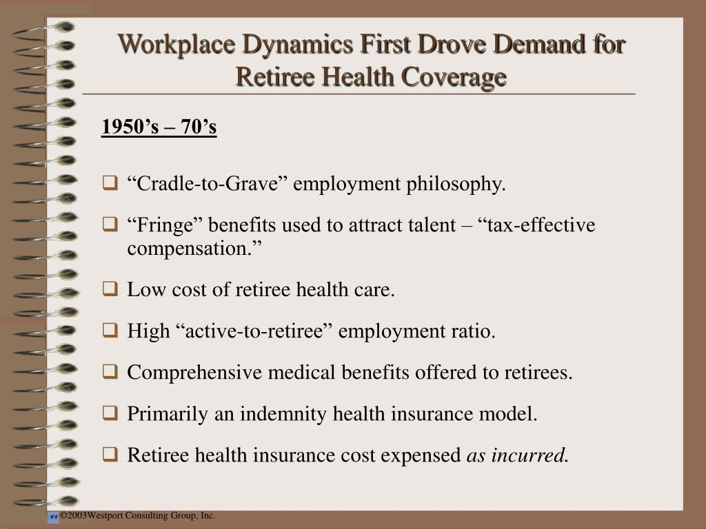 Workplace Dynamics First Drove Demand for Retiree Health Coverage