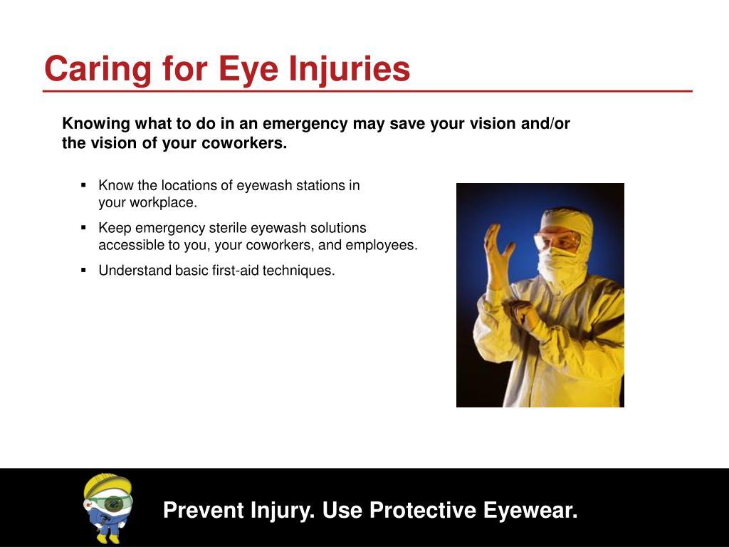 Caring for Eye Injuries