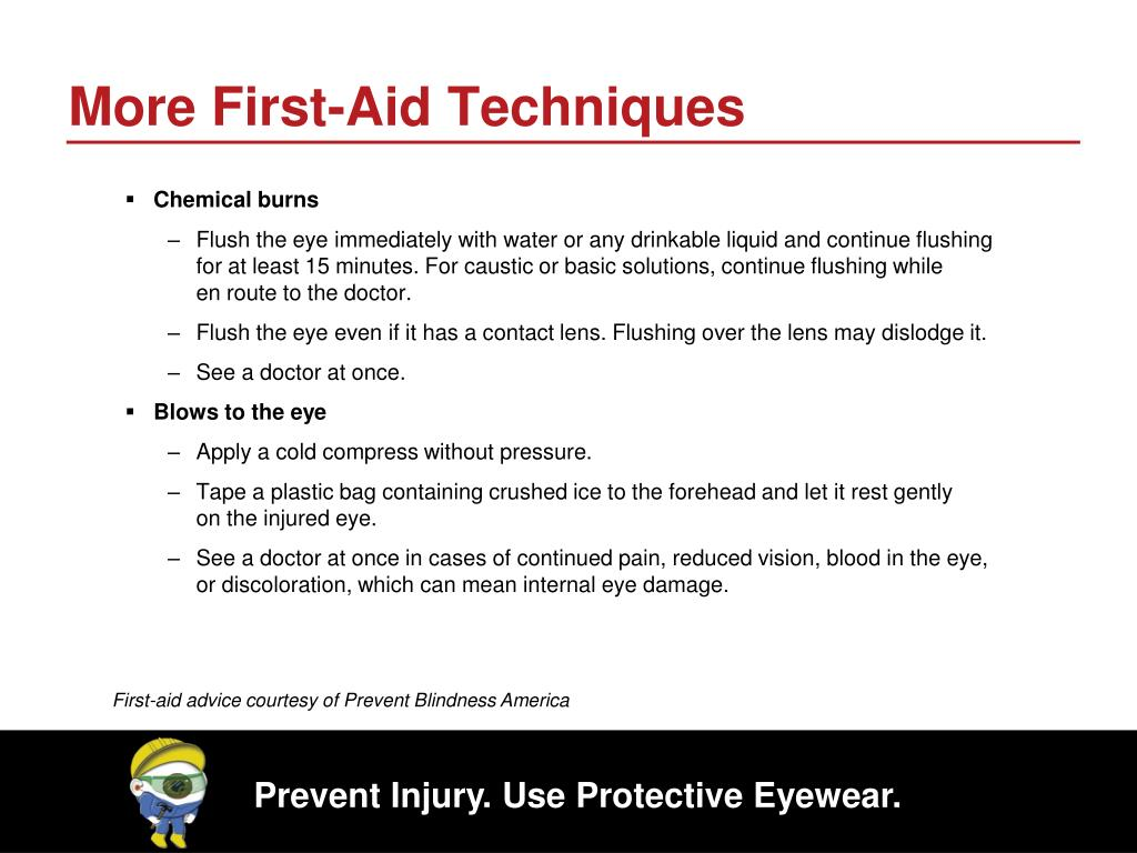 More First-Aid Techniques