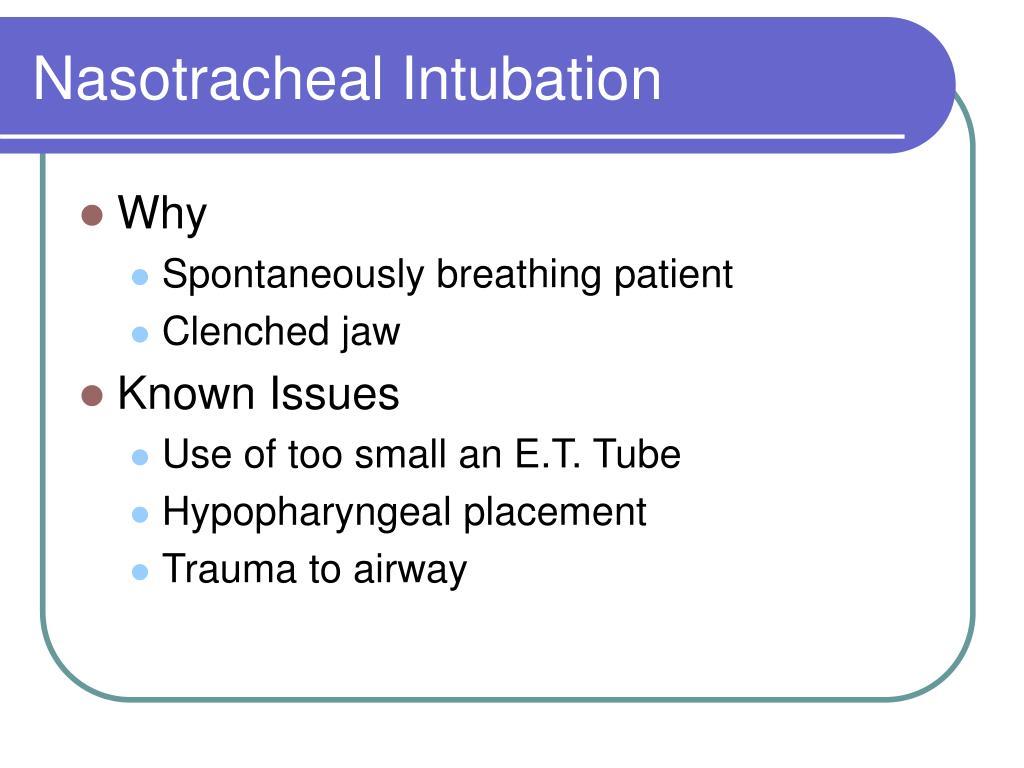 Nasotracheal Intubation